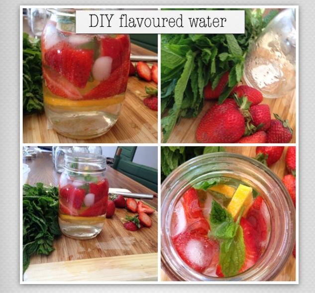 Strawberry watermelon health drink