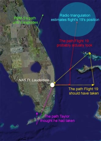 Image result for flight 19 actual and intended flight path