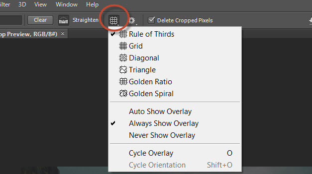 10. Choose whther to show your overlay or not