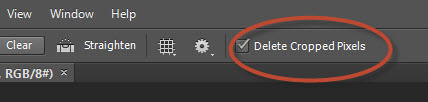 16. New Delete Cropped option in Photoshop CS6