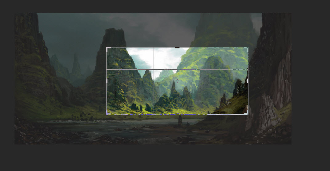 7. Click and drag to reposition image