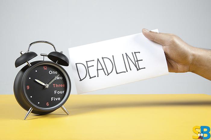 Meet the deadline