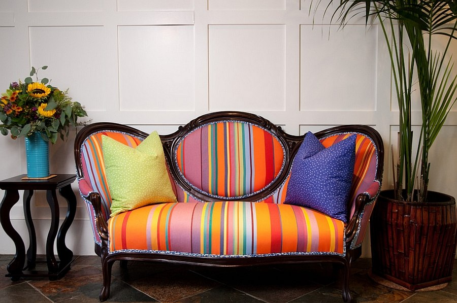 decorating-old-furniture-with-colorful-fabric