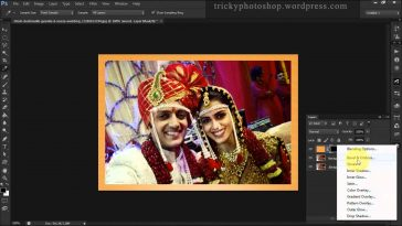 Add Wooden Frame To Images in photoshop